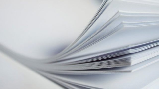 Бумага изготовлена из макулатуры