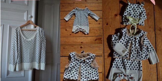 Идеи для переделки маминой одежды в дочкину