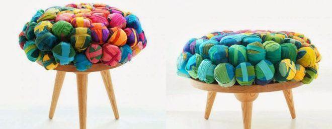 Обивка мебели из переработаной ткани