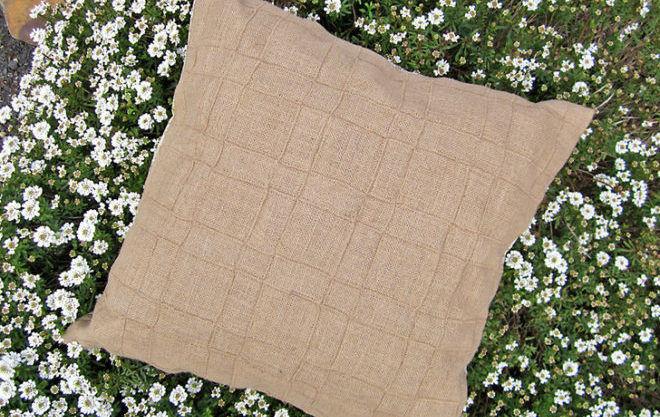 Переработка ткани из мешковины