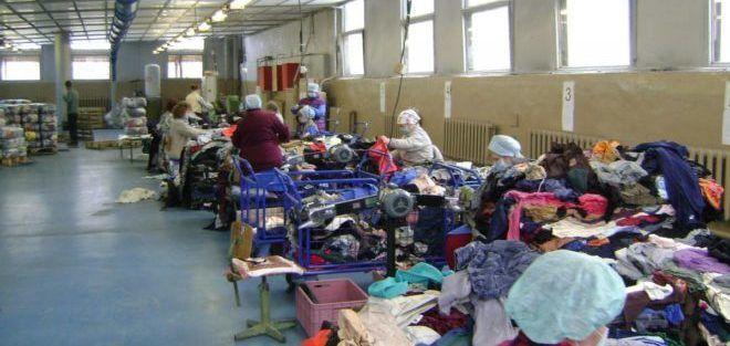 Сортировка ветоши одежды