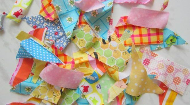 Утилизация мелких обрезков ткани