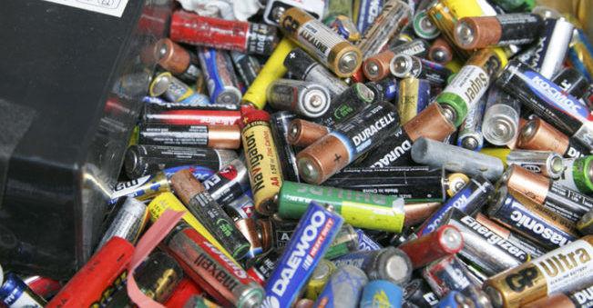 Использованые батарейки