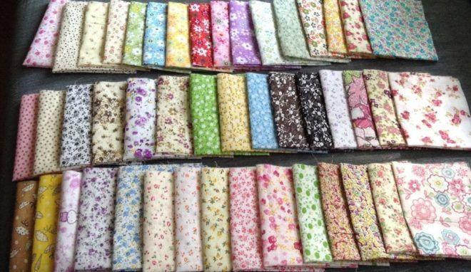 Лоскуты ткани для творчества