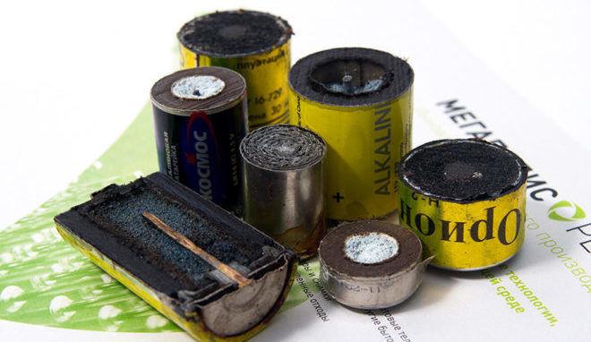 Переработка батареек от оболочки