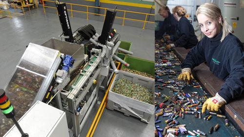 Переработка и сортирока батареек