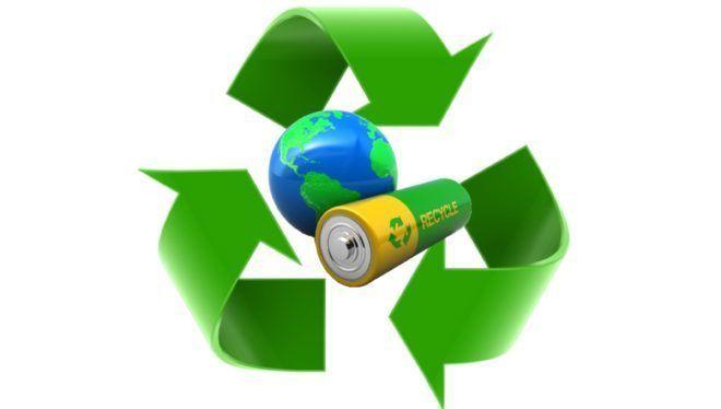 Процесс утилизации батареек