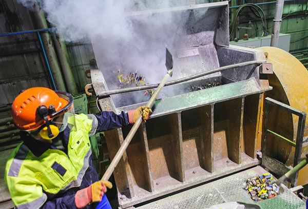 Утилизация батареек в жаровни