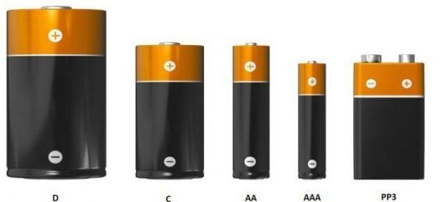 Виды батареек