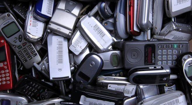 Отработанные телефоны на утилизацию