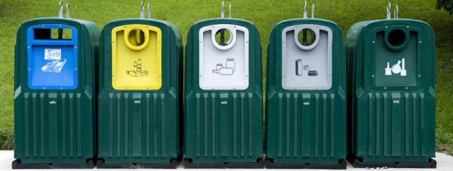 Раздельный сбора пластиковых и пищевых отходов