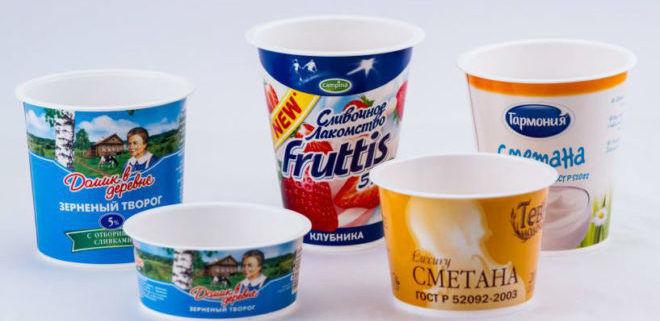 Стаканчики от йогуртов