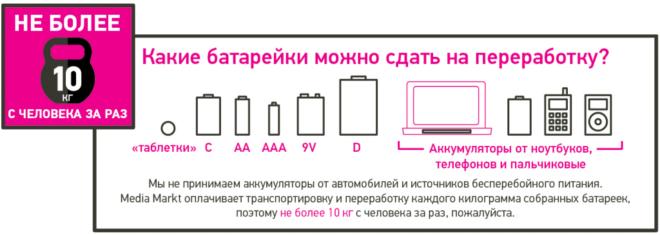 Какие батарейки можно сдавать на переработку
