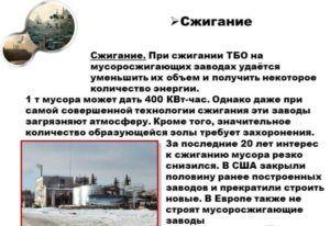 Сжигание мусора на заводах России