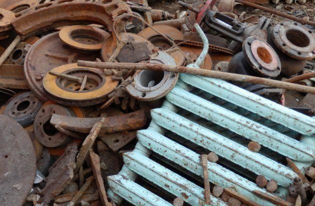 Места скопления металлического лома
