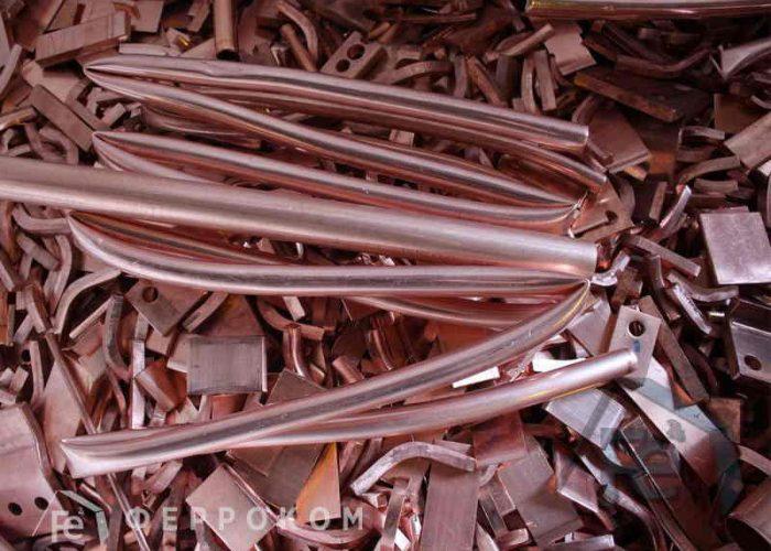 Медная металлолом в виде обрезков труб