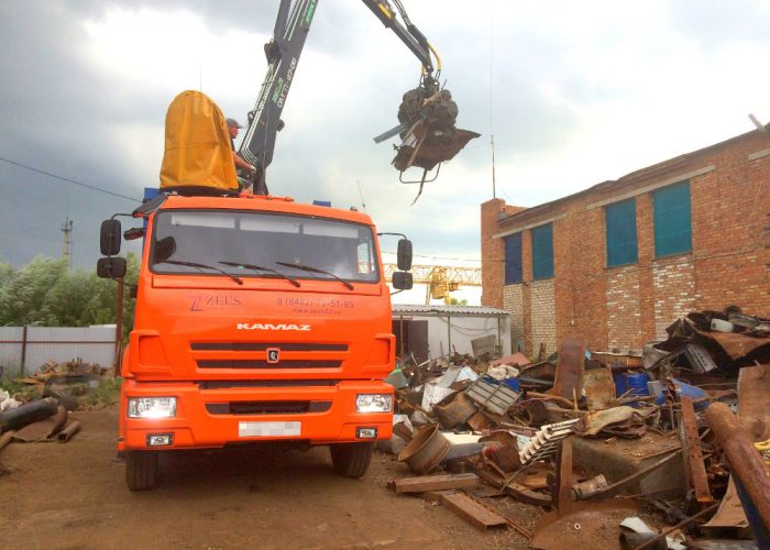 Отправка металлолома на специализированные заводы