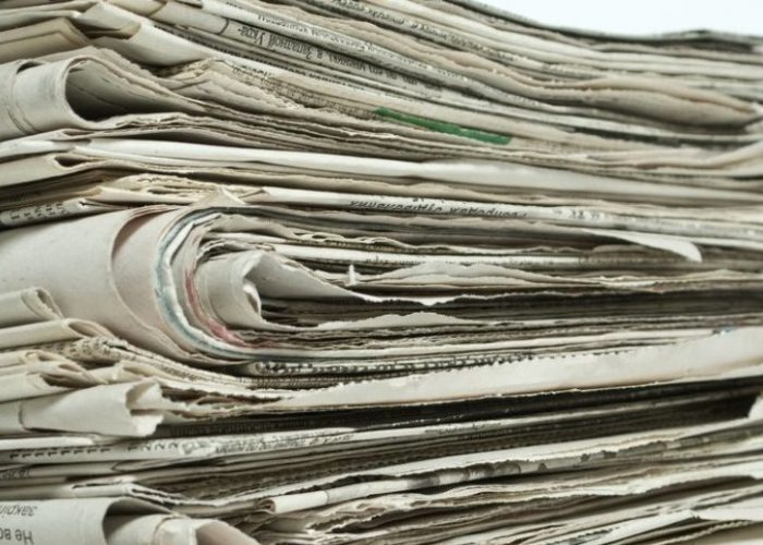 Старые газеты - марка 8В